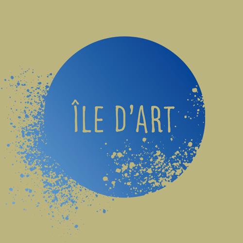 Logo ile d'art / art thérapie, atelier d'arts plastiques